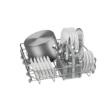 Bosch SMS25AI05E Serie2, Szabadonálló mosogatógép, 60 cm, silver-inox