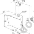 Whirlpool AKR809MR döntött fali páraelszívó 80cm iXelium® tükrösüveg felület