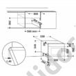 Whirlpool AMW423IXbeépíthető mikrohullámú sütő inox 38cm 22L