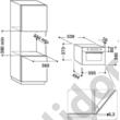Whirlpool AMW730NB fekete beépíthető mikrohullámú sütő 38cm 31L Absolute design