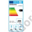 Whirlpool ART6501A+ beépíthető alulfagyasztós hűtőszekrény A+ 195+80L  177cm