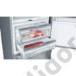 Bosch KGF56PIDP Serie8 alulfagyasztós hűtő NoFrost nemesacél 375+105L 193x70x80cm