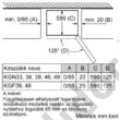 Bosch KGN39LBE5 Serie 6 fekete üvegajtós alulfagyasztós hűtő Home Connect NoFrost A++ 279/87L 203x60x65 cm