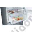 Bosch KGN49XLEA Serie 4 inoxlook alulfagyasztós hűtő NoFrost E 330+105lL 203x70x67 cm