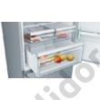 Bosch KGN56XIDP Serie 6 NoFrost D 400/105L nemesacél alulfagyasztós hűtő 193x70x80cm