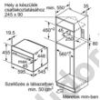 Bosch CFA634GS1 Serie8 beépíthető mikrohullámú sütő nemesacél 36L 45cm 900W