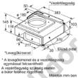 Bosch DIV016G50 Serie 8 munkapultba építhető Domino páraelszívó