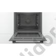 Bosch HBA534EB0 Serie 4 beépíthető sütő fekete EcoClean hátfal 1 szintes teleszkópos sütősín