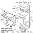 Bosch HBA573ES0 Serie 4 beépíthető sütő nemesacél pirolitikus öntisztítás 1-szintű teleszkópos sütősín AutoPilot10