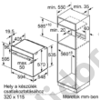 Bosch HBA573ES0 Serie4 beépíthető sütő nemesacél pirolitikus öntisztítás 1 szintes teleszkópos sütősín AutoPilot10
