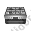 Bosch HXS59BD50 Serie 6 kombinált gáztűzhely nemesacél 60cm AutoPilot10 teleszkópos sütősín programóra