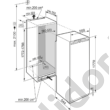 Liebherr IKF3514 Comfort A++ 279/27L beépíthető egyajtós hűtőszekrény 177cm magas