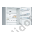 Bosch KGN56XI40 Serie 4 NoFrost A+++ 400/105L nemesacél alulfagyasztós hűtő 193x70x80cm