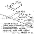 Neff N53TD40N0 Flex Induction indukciós kerámia főzőlap 30cm 3,7kW