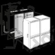 Liebherr SBS66I2 Premium NoFrost jégkészítő beépíthető side by side hűtő A++/A++  348/120L