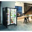 Liebherr SBSbs8683 Premium BioFresh NoFrost BLUPerformance side by side BlackSteel jégkockakészítő  hűtő D/D 185x121x67cm