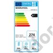 Whirlpool SP40 802 EU beépíthető alulfagyasztós hűtő Stop Frost A++ 294/101L 194x70x56cm
