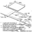 Neff T16BT76N0 üvegkerámia főzőlap 60cm nemesacél keret Twist Pad vezérlés