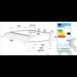 Whirlpool WSLCSE65ASW falra vagy felsőszekrény alá szerelhető kivitel fehér 60cm max.elszívóteljesítmény 175 m3/h