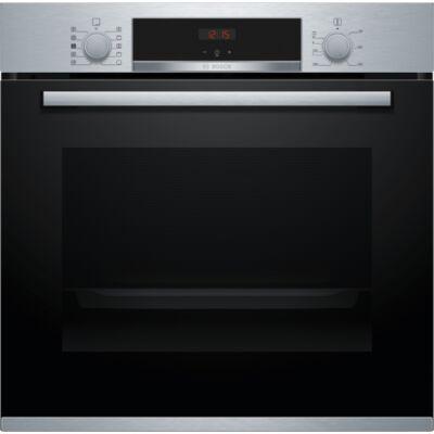 Bosch HRA534ES0  Serie4 beépíthető nemesacél sütő hozzáadott gőzzel,71 l sütőtér,8 funkció ,3D hőlégbefúvás