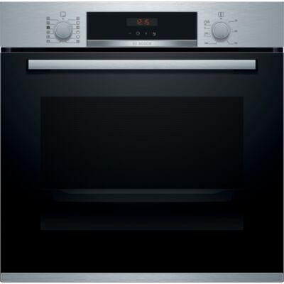 Bosch HRA574BS0 Serie4 beépíthető sütő hozzáadott gőz funkcióval,nemesacél,71 l sütőtér, pirolitikus öntisztítás