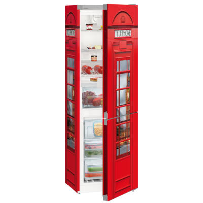 Liebherr CNel4313 Brit telefonfülke Comfort NoFrost alulfagyasztós hűtő ezüst A++ 209/95L 186x60x66cm