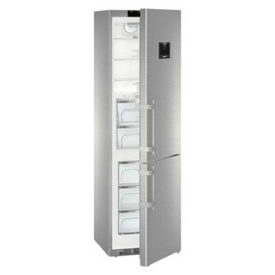 Liebherr CBNes 4898 alulfagyasztós kombinált hűtő-fagyasztó, nemesacél, C ,  BioFresh, NoFrost, BluePerformans, 201x60x66,5