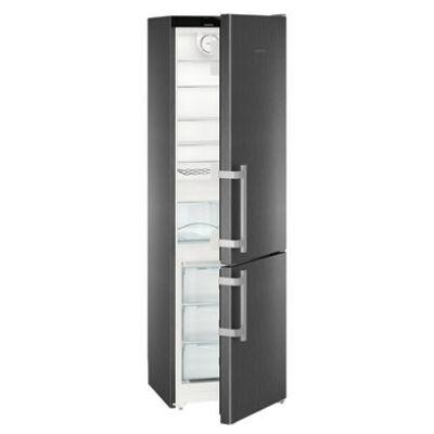 """Liebherr CNbs4015 Comfort NoFrost ,,E"""" alulfagyasztós hűtő BlackSteel 269/87L 201x60x63cm"""