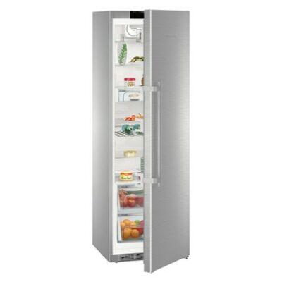 Liebherr SKes 4370 egyajtós szabadonálló hűtő, nemesacél, 185cm magas, 60 széles, C, 390 liter