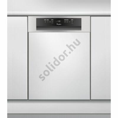 Whirlpool ADG522IX mosogatógép részben beépíthető inox 45cm A++ 10 teriték 3. evőeszköztartó tálca digitális kijelző