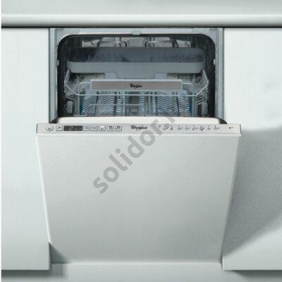Whirlpool ADG522X mosogatógép teljesen beépíthető 45cm A++ 10 teriték 3. evőeszköztartó tálca 6. Érzék autoszenzor (40-70°C) digitális kijelző