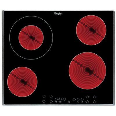 Whirlpool AKT8600IX kerámialap beépíthető 60cm inox szegély 1 dupla zónás főzőzóna speciális alacsony hőmérsékletű funkció