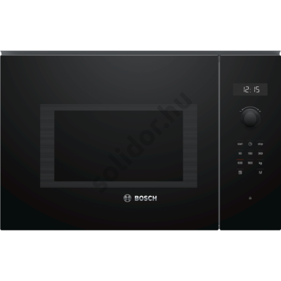 Bosch BFL554MB0 Serie 6 beépíthető mikrohullámú sütő fekete 25L 38cm balra nyíló ajtó