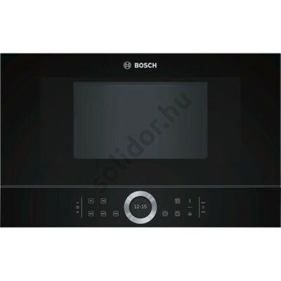 Bosch BFL634GB1 Serie 8 beépíthető mikrohullámú sütő fekete 21L 38cm balra nyíló ajtó
