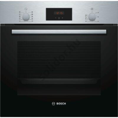 Bosch HBF154YS0 Serie2 nemesacél beépíthető sütő EcoClean öntisztítás 2 sütősín piros kijelző