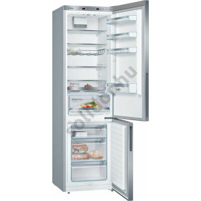 Bosch KGE39AICA Serie 6  249/88L nemesacél alulfagyasztós hűtő 201x60x65cm