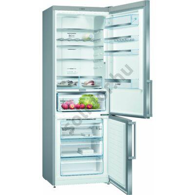 Bosch KGN49AIEP Serie 6 HomeConnect ready NoFrost E 330/105L nemesacél alulfagyasztós hűtő 203x70x67 cm