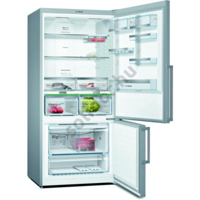Bosch KGN86AIDP Serie6 alulfagyasztós hűtő NoFrost Home Connect ready nemesacél D 479+140L 186x86x81cm