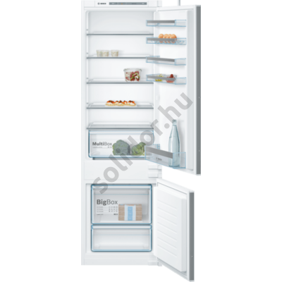 Bosch KIV87VSF0 Serie4 beépíthető alulfagyasztós hűtő 177cm  209+63L