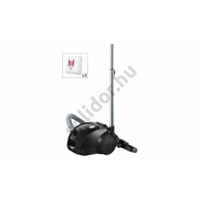 Bosch BZGL2A317 porzsákos porszívó fekete 80 dB  7db tartalék porzsákkal