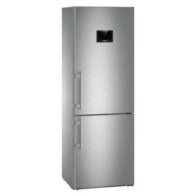 """Liebherr CBNPes5758 Premium BioFresh NoFrost BLUPerformance 7"""" alulfagyasztós hűtő nemesacél A+++ -20% 166/107/108L 201x70x67cm"""