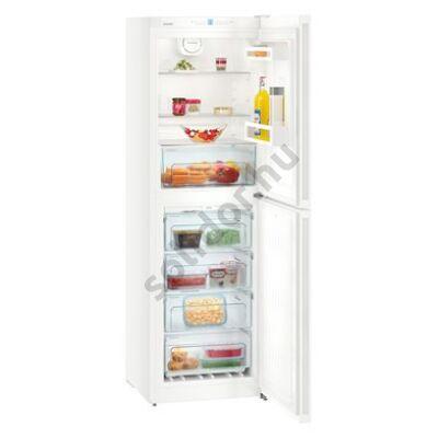 """Liebherr CN4213 Comfort NoFrost alulfagyasztós hűtő fehér ,,E""""165/129L 186x60x66cm"""
