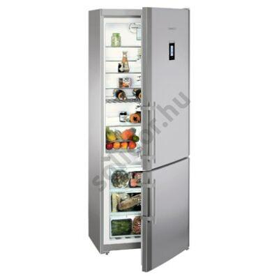 Liebherr CNPes5156 Premium NoFrost alulfagyasztós hűtő nemesacél A++ 338/115L  202x75x63cm