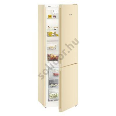"""Liebherr CNbe4313 Comfort NoFrost alulfagyasztós hűtő bézs ,,E"""" 209/95L 186x60x66cm"""