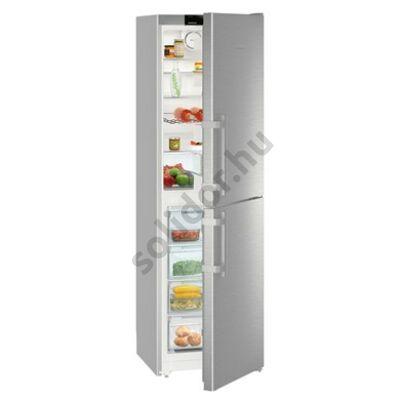 Liebherr CNef3915 Comfort NoFrost alulfagyasztós hűtő nemesacél A++ 221/119L 201x60x63cm