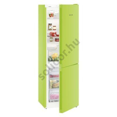Liebherr CNkw4313 NoFrost alulfagyasztós hűtő KiwiGreen A++ 209/95L 186x60x66cm