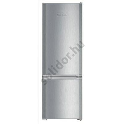 """Liebherr CUel281 Comfort ,,F"""" 212/53L alulfagyasztós hűtőszekrény inox 161x55x63cm"""