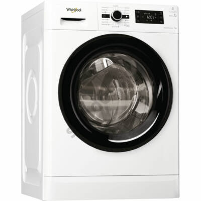 Whirlpool FWG71283BV EE előltöltős mosógép A+++ 7kg 1200f/p fekete dobajtó