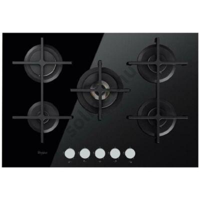 Whirlpool GOA7523NB fekete edzett üveg gázlap WOK égő 73cm