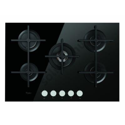 Whirlpool GOW7523NB beépíthető gázfőzőlap fekete üveg 73cm